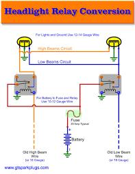 headlight relay wiring gtsparkplugs headlight relay wiring diagram