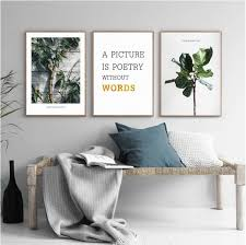 3PCS Set Nordic Green Plant <b>Wall Art Canvas Painting</b> – Lewe Decor
