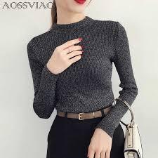 <b>Turtleneck Sweater</b> Women Fashion <b>2019 Autumn Winter</b> Black ...