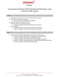 certara university biosimulation education cl 201 intermediate population modeling methodology using phoenix nlme