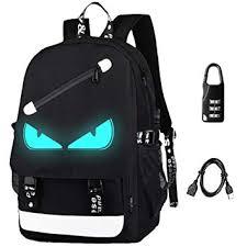 Anime <b>Backpack</b> Luminous <b>Backpack Men</b> School Bags <b>Boys</b> Girls