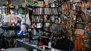 Video: Watch The <b>Comet Is Coming</b> Play The Tiny Desk : NPR