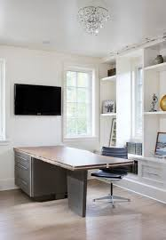 dub contemporary home office idea in other with white walls and medium tone hardwood floors affordable home office desks