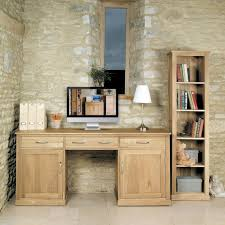 baumhaus mobel solid oak hidden baumhaus mobel oak large hidden office twin pedestal desk bonsoni mobel oak hideaway