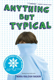 anything but typical book by nora raleigh baskin official cvr9781416995005 9781416995005 hr