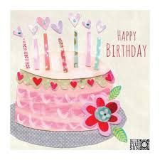 Paperworks Blue <b>Eyed</b> Sun Happy Birthday Pink Birthday Cake $7.90
