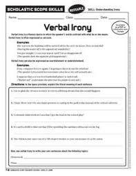 Verbal Irony 6th - 10th Grade Worksheet | Lesson Planet via Relatably.com