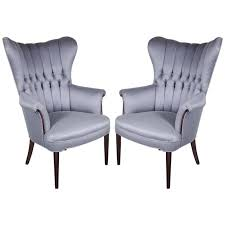 sophisticated pair of 1940s hollywood tufted channel back occasional chairs from a unique collection channel tufted furniture