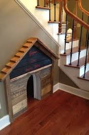 ideas about Dog Houses on Pinterest   Dog  Dog House Plans    DIY Dog house built under the stair case  Love this but painted and prettier