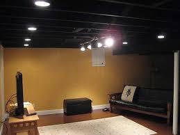 unfinished basement lighting ideas awesome ideas 11952 basement basement lighting options 1