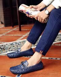 Blue <b>crocodile pattern</b> buckle slip on shoe <b>loafer</b> | <b>Men's</b> Slip On ...