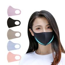 Summer ice silk cotton cloth mask hanging ear type dustproof ... - Vova