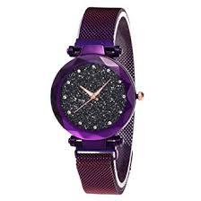 <b>Starry Sky</b> Quartz Watch - <b>Diamond</b> Cutting Glass Mirror, with Mesh ...