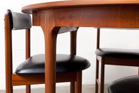 danish oval dining table teak  mid century round or oval danish teak dining table