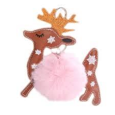 Reindeer <b>Keychain</b>,Cute <b>Xmas Elk</b> Fluffy Key Buckle Reindeer ...