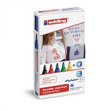 <b>Edding Набор маркеров</b> по ткани E-4500 2-3 мм - Акушерство.Ru