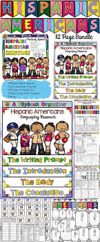 best ideas about hispanic american hispanic hispanic heritage month bundle biography fact cards qr codes posters banner