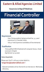 foreign vacancies in financial controller jobs vacancies financial controller best job site in sri lanka lk