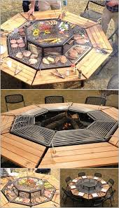 fire pit picinic table