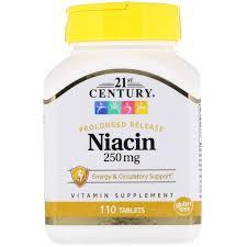 Витамин В3 (<b>ниацин</b>), Niacin, 21st Century, <b>250 мг</b>, 110 таблеток ...