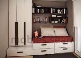 red interior design small  brown red white small kids room
