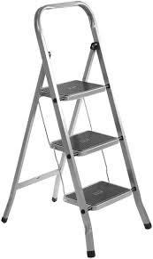 Лестница-<b>стремянка стальная</b> с 3 широкими ступенями ...