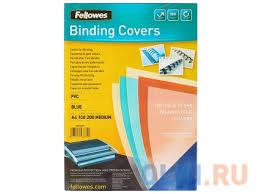 <b>Обложка Transparent А4 Fellowes</b>, 200 мкм, синий, 100 шт, pvc ...