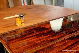 Restaining Kitchen Table Staining Furniture 101 Finding Silver Pennies