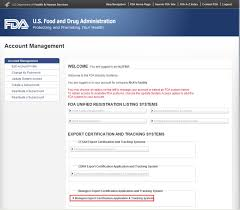 exporting cber regulated products > how to enter a certificate to fda industry systems page