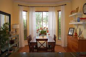dining room designer furniture exclussive high: exquisite  classic simple dining room design with protruding bay window and rectangle teak table feats simple laminate high back chairs and upholstered open tier shelves