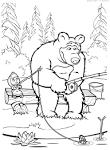 Раскраска маши медведь