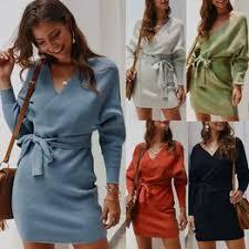 Women Fashion Winter Casual Long Sleeve Solid Knit ... - Vova