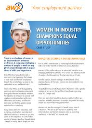 case studies awx women in industry champions equal opportunities