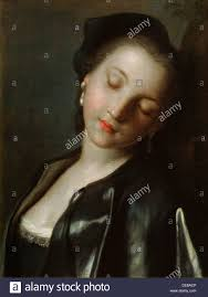 th century w beauty stock photos th century w beauty sleeping young w mid 18th century artist pietro rotari stock