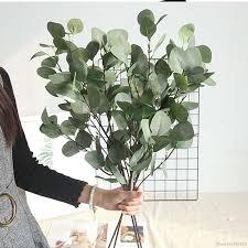 Home, Furniture & DIY Garden Decor Green <b>Silk</b> Flower <b>Artificial</b> ...