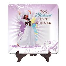 Image result for free images of too blessed to be stressed