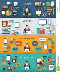 flat design lance jobs infographic long shadows stock lance jobs infographic long shadows
