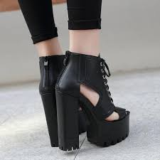 <b>Women's</b> Spring/<b>Summer Open Toe</b> Ankle Boots With Square Heels ...