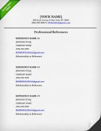 references on a resume    resume geniusreference list template