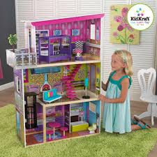 kidkraft super model wooden dollhouse with 11 pieces of furniture barbie furniture dollhouse