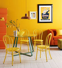 Orange Dining Room Chairs Wicker Dining Chair Cheerful Dining Room Design Inspiration Glass