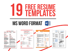 resume templates now in ms word on behance