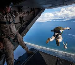 marine corps roles positions career divisions com in parachutes jump from the back of an aircraft