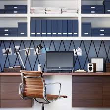 navy blue home office with walnut desk and chair home office storage ideas photo blue home office ideas home office