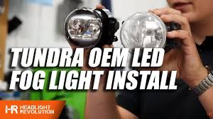 Toyota Tundra 2014-2018 <b>LED OEM Fog Light</b> Install | Headlight ...