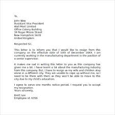 sample resignation letter format     download free documents in    company format of resignation letter