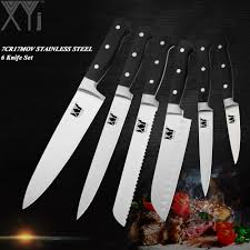 <b>XYj High Scale</b> Germany Steel Kitchen Knives Set 7cr17mov Ultra ...