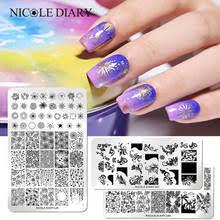 <b>NICOLE DIARY</b> прямоугольные <b>пластины для</b> стемпинга ногтей ...