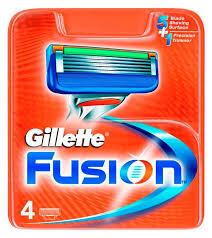 Сменные <b>кассеты</b> для бритья <b>Gillette Fusion</b>, <b>4 шт</b> - купить по ...