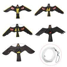 Mayitr <b>Emulation Black Bird Repeller</b> Flying Hawk Kite Garden ...